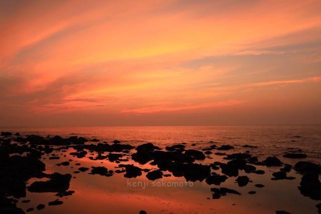由良からの夕景
