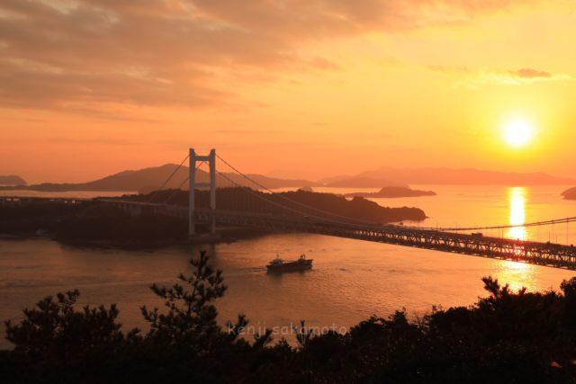 岡山 鷲羽山からの夕景