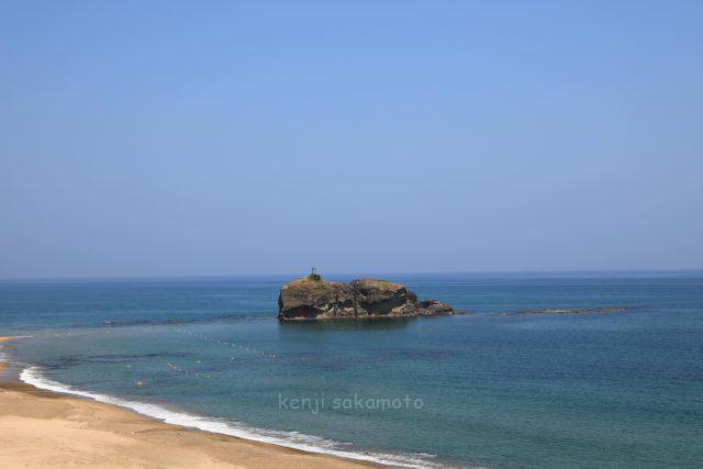 鳥取 白兎海岸の風景