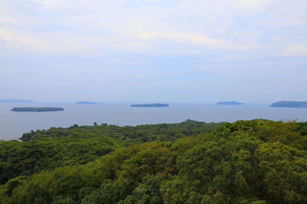 山口 笠山から見た萩六島