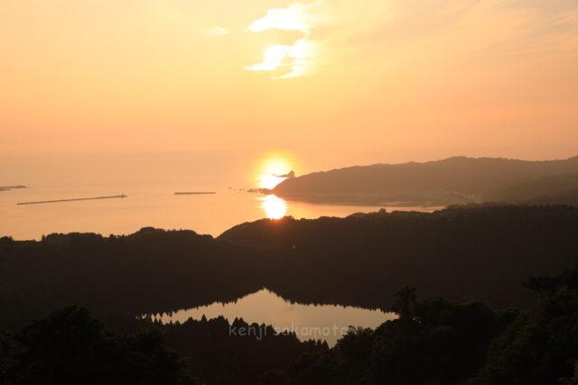 秋田 八望台からの夕景