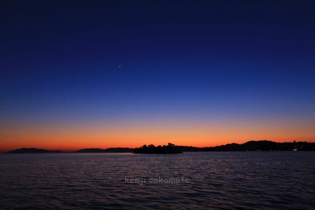 島根 宍道湖の夕景